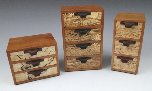 Little Wooden Boxes with Drawers